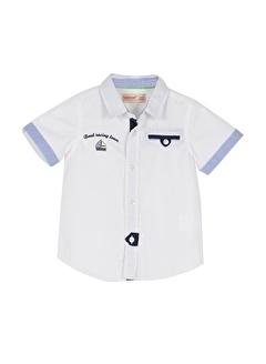Silversun Kids Erkek Bebek Nakışlı Cep Detaylı Kısa Kollu Gömlek Gc 115292